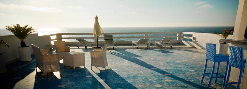 Terrasse vue sur l'océan Moulay-Bousselham | Vilabea