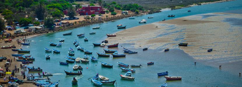 Vue sur le port de Moulay Bousselham