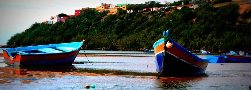Vue sur Moulay Bousselham depuis la Merja